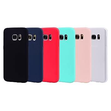 Leton 6X Funda para Samsung Galaxy S6 Edge Silicona Ultrafina Case Suave Flexible TPU Carcasa Galaxy S6 Edge Ultra Delgado Gel Caja Anti Choque Candy ...