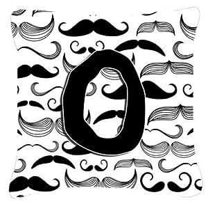 Caroline's Treasures CJ2009-OPW1414 Letter O Moustache Initial Decorative Pillow, Large, Multicolor
