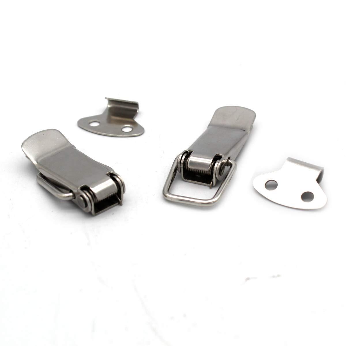 Silver HS-010 Ymwave 8 Pi/èces Fermeture a Levier Fermeture /à Ressort Loquet Bascule en Acier Inoxydable Pour Coffre /à Outils,Tiroir,Armoire et Coffre