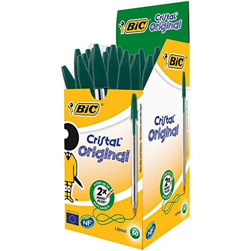 Green Bic Pens - 3