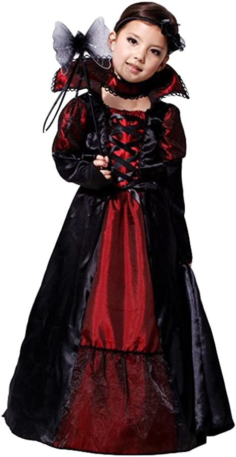 Tongchou Disfraz de Vampiro para Ninas Carnaval Fiesta Halloween M ...