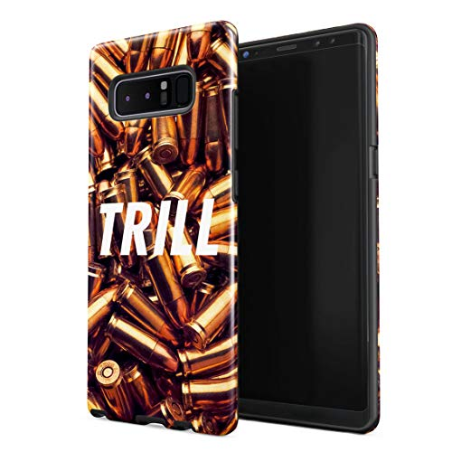 Trill High Life War Fight Wartime Golden Bullets Double Layer Hard PC Armor & Shock Absorbing TPU Tough Cover Shell Compatible with Samsung Galaxy Note 8