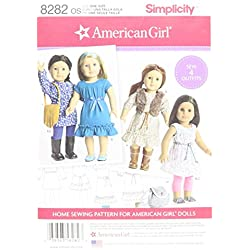 "Simplicity Creative Patterns US8282OS 8282 Simplicity Pattern 8282 American Girl 18"" Doll Clothes, Size: One Size (One Size)"