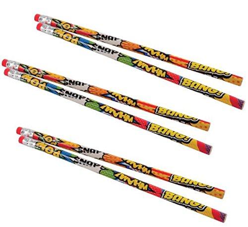 2 Dozen (24) Superhero Pencils/Party Favor/Giveaway/Student -