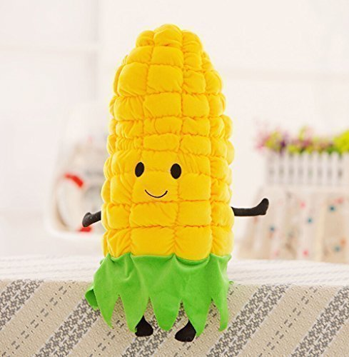 Etrony Corn Stuffed Plush Toy Soft Dolls Throw Pillow Cushion by Etrony