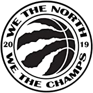 MTech - We The North We The Champions Toronto Raptors 2019 NBA Finals Basketball Decal Wall Bumper Sticker