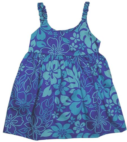 RJC Girls Monstera Garden Bungee Dress Blue 2T by RJC