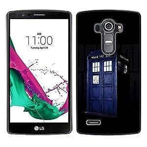 // PHONE CASE GIFT // Duro Estuche protector PC Cáscara Plástico Carcasa Funda Hard Protective Case for LG G4 / Police Box Retro Blue Jail Cell /