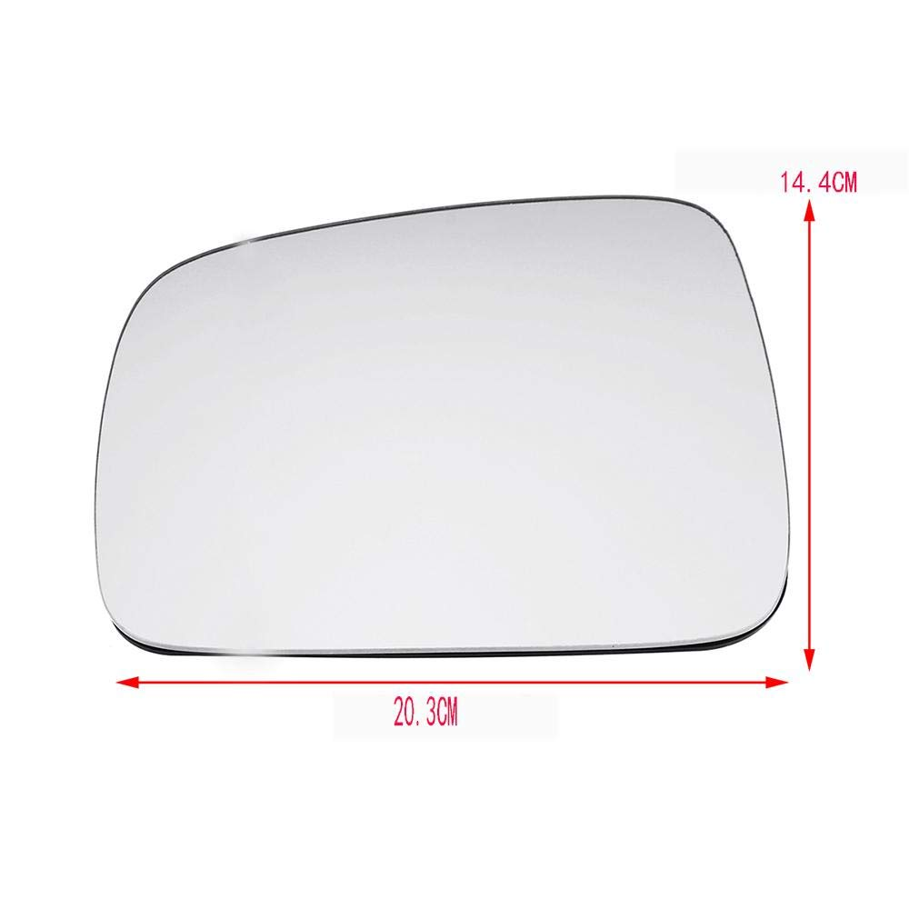 Right Driver side Wing mirror glass for VW Transporter T5 2003-2009 Heated