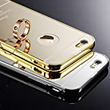 Changeshopping(TM) New Ultra-thin Luxury Aluminum Metal Mirror Case Cover for iPhone 6(Gold)