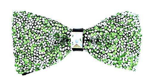 (Oliver George Glitter Bow Tie (Lime Green)-G100-F)