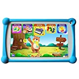 Kids Tablet, B.B.PAW 7 inch 1G+8G WiFi Android Tablet with Additional 120+ English Preloaded Learning&Training Apps and Protective Case for Kids-Blue