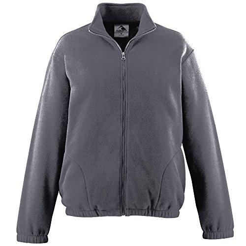 Augusta Sportswear Men's Chill Fleece Full Zip Jacket L Charcoal - Fleece Augusta Chill