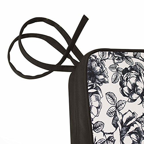 Filled Garden Foam Decorative Pad 43cm 50cm with 2 Bench for or Monochrome Chair Outdoor Bean Coffee Water Bag Seat Black Bazaar Cushions Ties Resistant Cushion Floral Sofa x xxaAzOq
