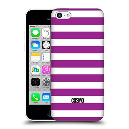Official Cosmopolitan Violet Stripes Collection Hard Back Case for Apple iPhone 5c