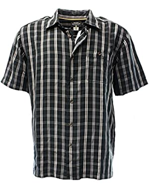 Mens Tidal Woven Shirt, Size: X-Large, Color: Black