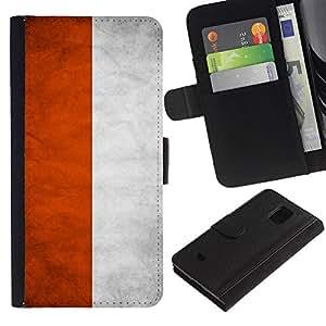 iKiki Tech / Cartera Funda Carcasa - Poland Grunge Flag - Samsung Galaxy S5 Mini, SM-G800, NOT S5 REGULAR!