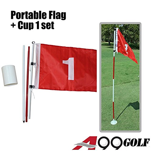 A99 Golf Practice Hole Pole Cup Flag Stick Putting Green Flagstick - Practice Stick Golf