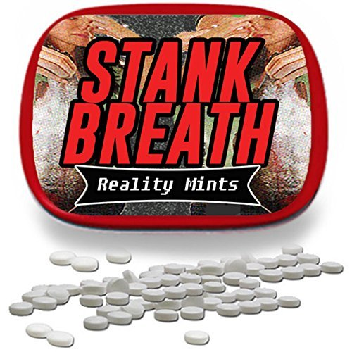 Stank Breath Mints - Funny Gag Gift for Teens Weird Gifts White Elephant Ideas Gifts for Guys Wintergreen Breath Mints Stocking Stuffers for Adults Funny Friend Gift