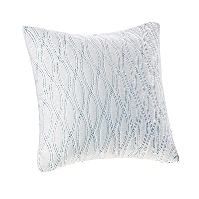 Harbor House Coastline Fashion Cotton Throw Pillow, Jacquard Square Decorative Pillow, 18X18, Ivory - Set Includes: 1 Decorative Pillow Materials: 100% cotton Filling: 100% polyester Measurements: 18-by-18-inch Decorative Pillow - living-room-soft-furnishings, living-room, decorative-pillows - 51woKhYhTTL. SS400  -