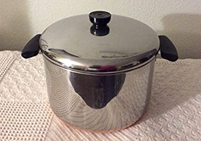 VTG Revere Ware SS Copper Bottom 6qt Stockpot