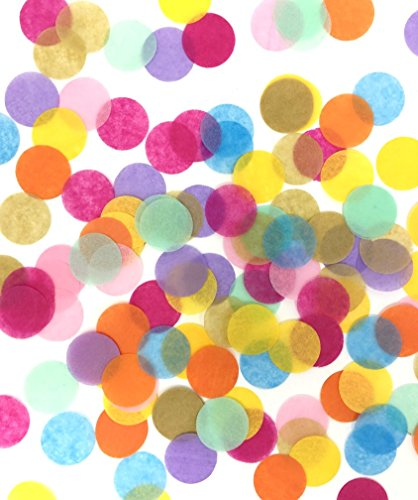 LIMITLESS 5000 Pieces 1-inch Colorful Tissue Paper Confetti Circles. Specially Crafted For Unicorn Birthday Parties, Weddings, Anniversaries, Baby and Bridal Showers!