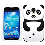 monkey chicken penguin - Black Case for Samsung Galaxy S4 IV i9500 New Cute Cartoon 3D Panda Style Soft Silicone Skin Cover(Gift 2 PCS Sticker)