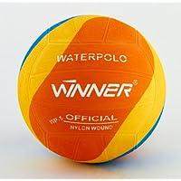 Mega Sport - Palla Winner Water Polo Design a Cerchi Arancione. Misura 5.