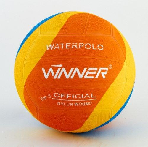 Winner Water Polo Ball. montata con motivo a vortice, misura 4, colore: arancione