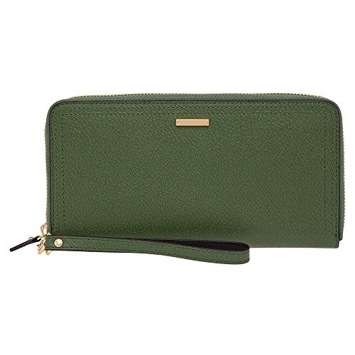 Lodis Lined Wallet (Lodis Accessories Women's Stephanie Under Lock & Key Vera Wristlet Wallet Green Clutch)