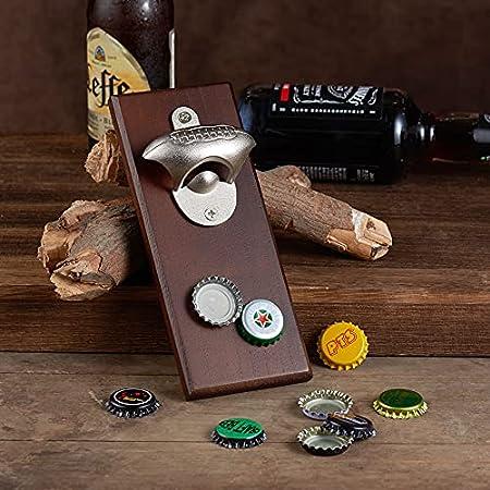 Abrebotellas magnético de rugby, abrelatas de madera montado en la pared, el mejor regalo para hombres amantes del rugby y la cerveza, uso como decoración de la barra de la cocina.