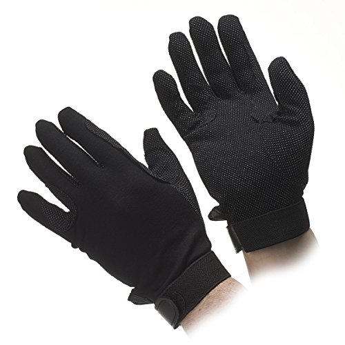 Deluxe Beaded Grip Formal / Parade Gloves (M, Black) ()