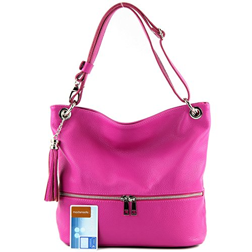 ital bag de bag bag Pink Leather Shoulder Modamoda Shoulder Leather bag T143 fOwUq7F