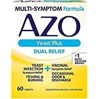 AZO Yeast Plus Multi Benefit Formula 60 Tablets (3 Pack)
