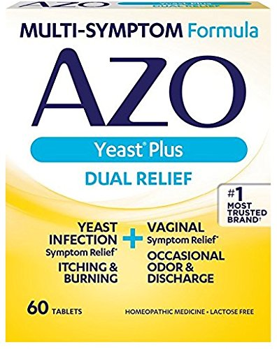 Symptoms 60 Tablets - AZO Yeast Plus Multi Benefit Formula 60 Tablets (3 Pack)