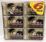 Maxell VHS-C Camcorder, HGX-Gold TC-30, 6-Pack