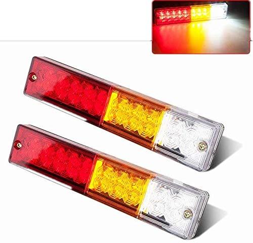 2x DC 12V 6-LED Red Turn Brake Stop Tail Light Waterproof For Truck Trailer RV
