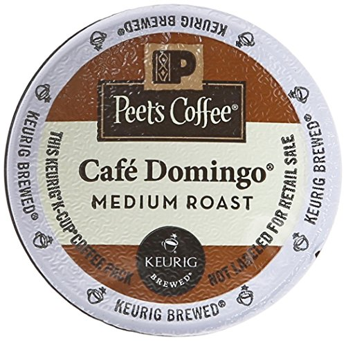 Peet's Coffee Cafe Domingo Intermediation Roast Single Cup Coffee for Keurig K-Cup Brewers 40 count