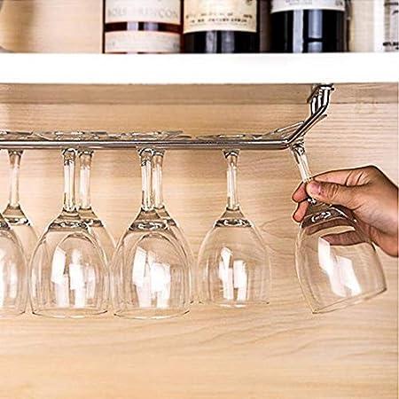 1 Pieza De Copa De Vino Larga Portavasos Colgante Estante Simple Y Doble Barra Del Hogar Gabinete Alto Gabinete Inferior Estante De Cocina Alambre De Metal 34 Cm-fila Única Vinotecas Copas De Vino