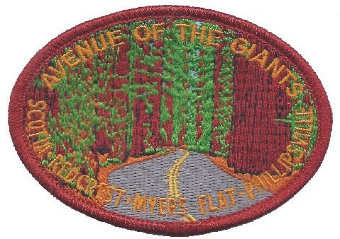 Avenue of the Giants - Redwood Trees Patch - California (Humboldt County) (Iron On)