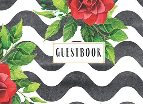 Guestbook: Cute Floral Guestbook Pretty Simple with lines Birthday Party Rentals bed and Breakfast Visitors Retirement Home Celebration Sweet sixteen ... Baby Kids Sign Pages Please Baby Shower Girl