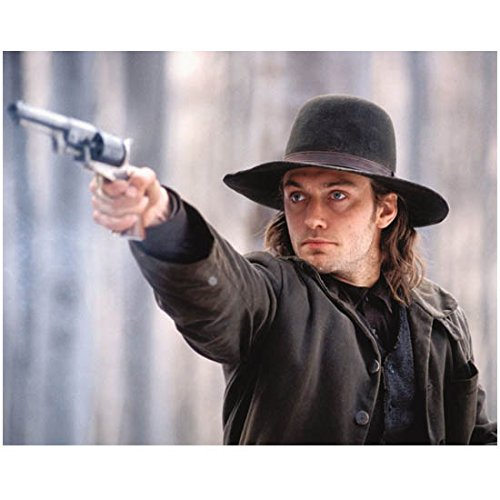 jude-law-laying-pointing-gun-in-cowboy-gear-8-x-10-inch-photo