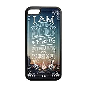 Bible Verse Rubber Back Fits Cover Case for iPhone 5C