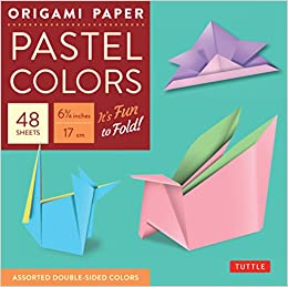 Book Origami Paper Pastel: 49 Sheets: Perfect for Small Projects or the Beginner Folder