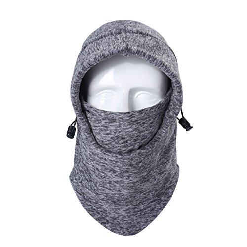 UHEREBUY Balaclava Windproof Ski Mask Scarf/Cold Weather Face Mask Thermal Fleece Hood Neck Warmer Outdoor Mask