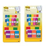 Post-it Flags Assorted Color Combo Pack, 1-inch Wide and .5-inch Wide Flags - (2 Pack of Assorted Colors Combo Pack)