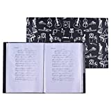 ammoon Music Sheet Score File Paper Documents Storage Folder Holder Plastic A4 Size 40 Package Pockets