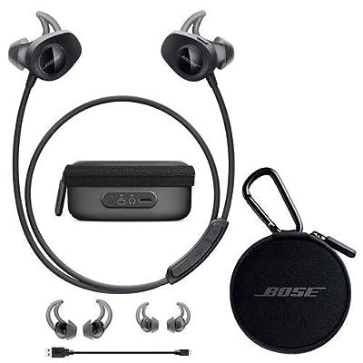 Bose SoundSport Wireless Headphones Black - Bundle With Bose Charging Case for SoundSport Wireless Headphones