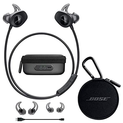 bose earbuds wireless. bose soundsport wireless headphones black - bundle with charging case for earbuds