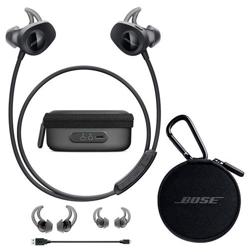 Bose SoundSport Wireless Headphones Black - Bundle With Bose Charging Case for SoundSport Wireless Headphones